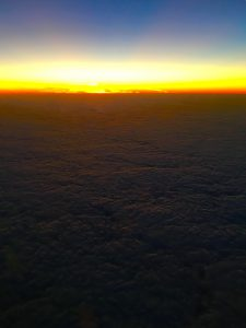 Sunrise over the Baltic sea on route to Helsinki